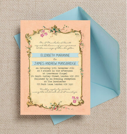 Pastel Pretty Wedding Invitation