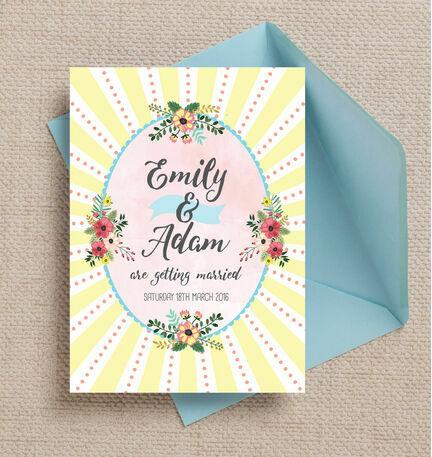 Spring Pastel Wedding Invitation