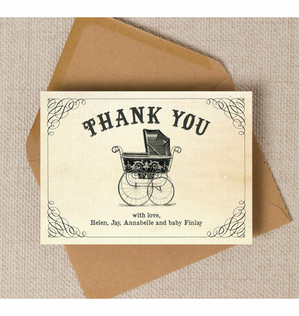 vintage pram thank you card from 0 75 each