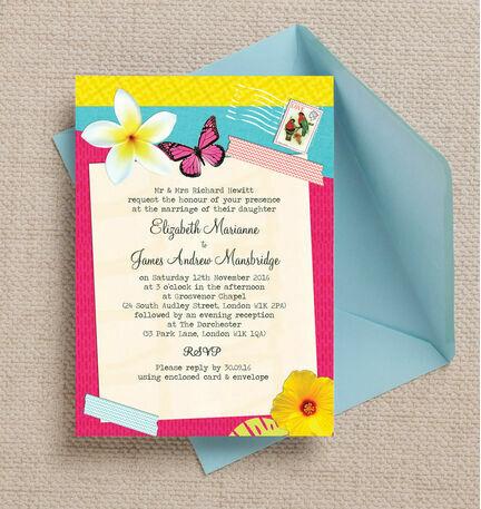 Tropical Breeze Wedding Invitation