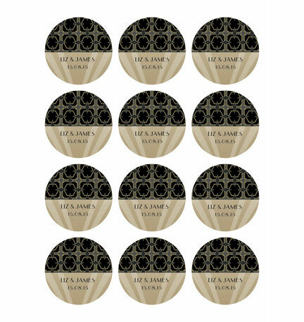 Art Deco Stickers - Sheet of 12