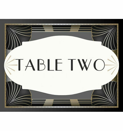 Art Deco Table Name