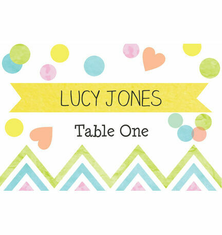 Candy Confetti Escort Cards - Set of 8