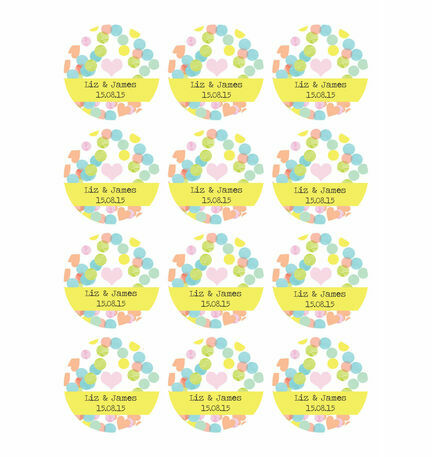 Candy Confetti Stickers - Sheet of 12