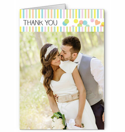 Candy Confetti Thank You Card