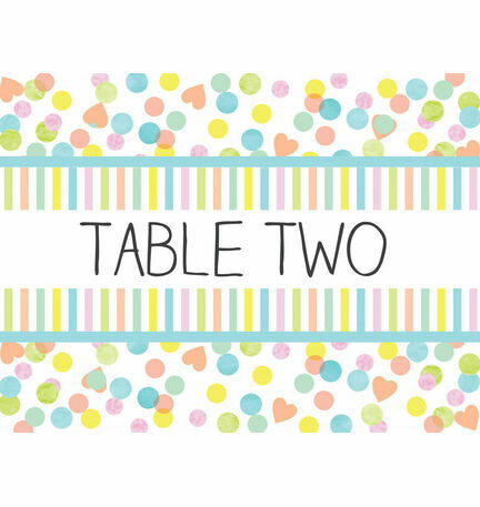 Candy Confetti Table Name