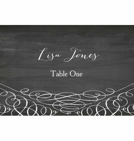 Chalkboard Escort Cards - Set of 8