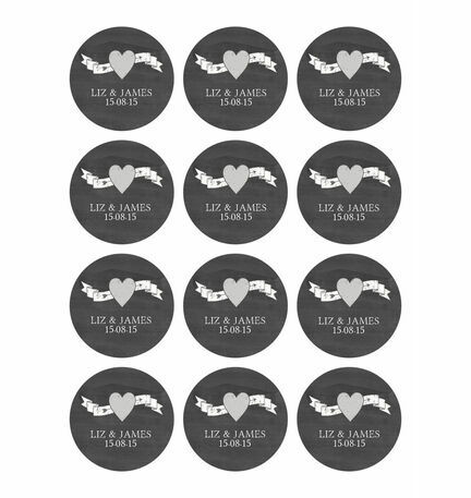 Chalkboard Stickers - Sheet of 12