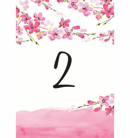 Cherry Blossom Table Number