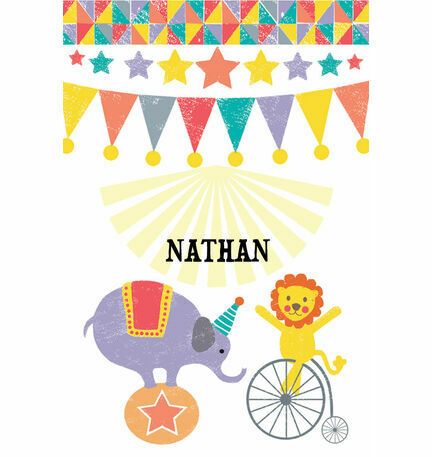 Circus Fun Name Cards - Set of 9