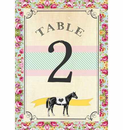 Day at the Races Table Number