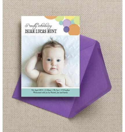 Dotty Delight Birth Announcement Card