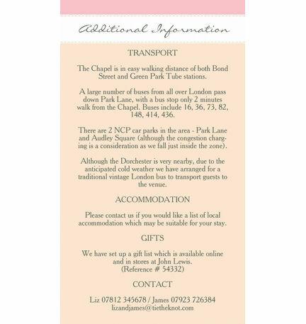 Elegant Floral Guest Information Card