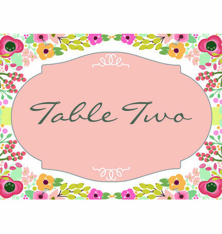 Elegant Floral Table Name