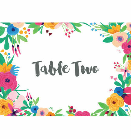 Floral Fiesta Table Name