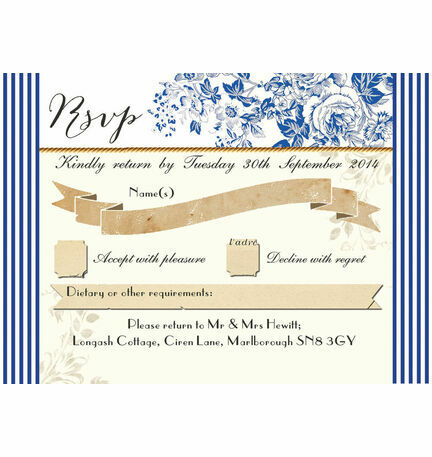French Toile RSVP