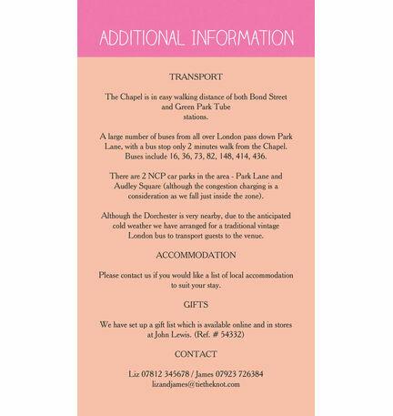 Monochrome Pop Guest Information Card