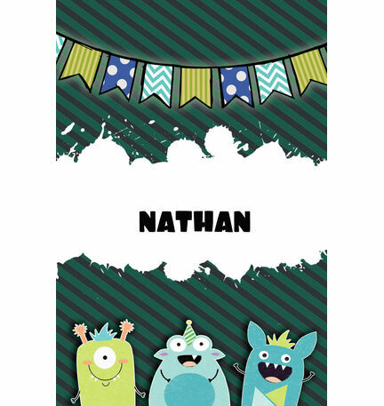 Monster Mayhem Name Cards - Set of 9