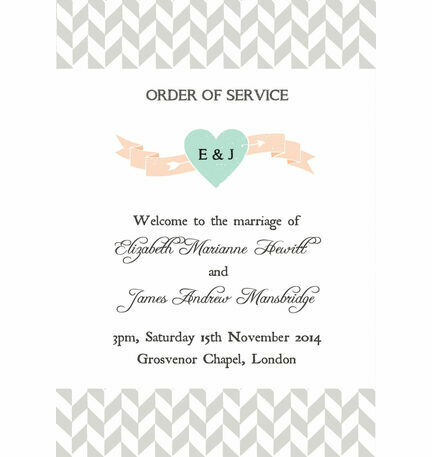 Pastel Bohemian Order of Service Cover