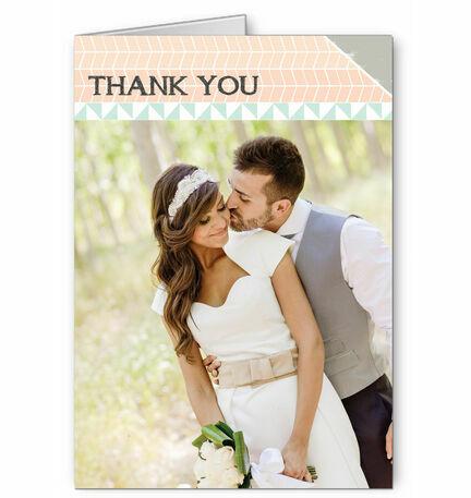 Pastel Bohemian Thank You Card