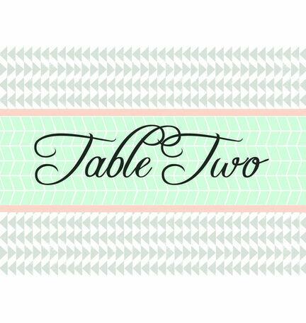 Pastel Bohemian Table Name