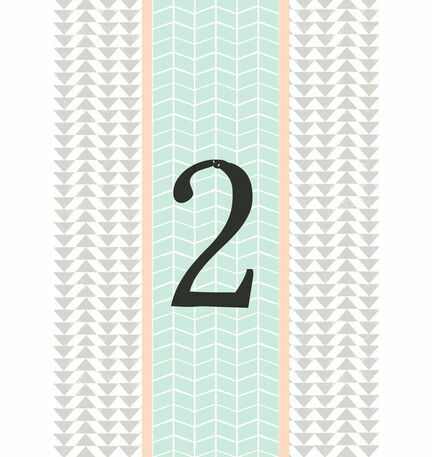 Pastel Bohemian Table Number