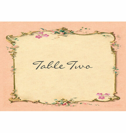 Pastel Pretty Table Name