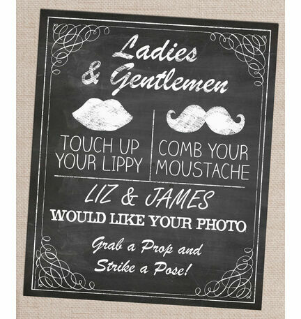 Personalised Photo Booth Printable Poster