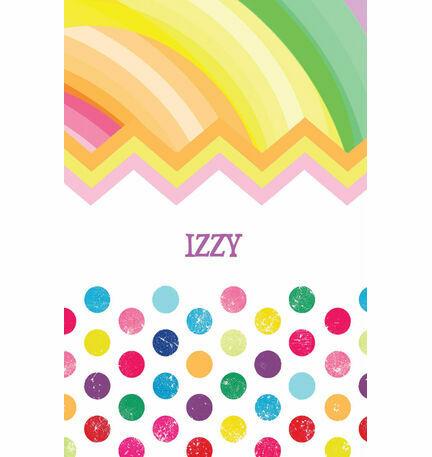 Rainbow Fiesta Name Cards - Set of 9