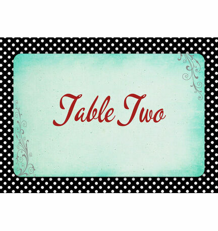 Rockabilly Retro Table Name