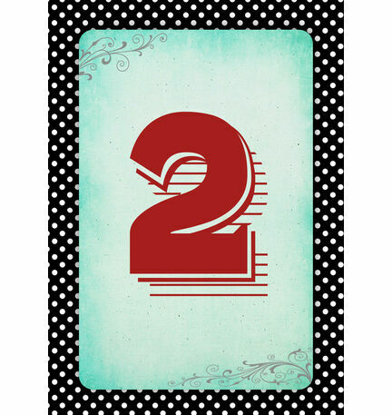 Rockabilly Retro Table Number