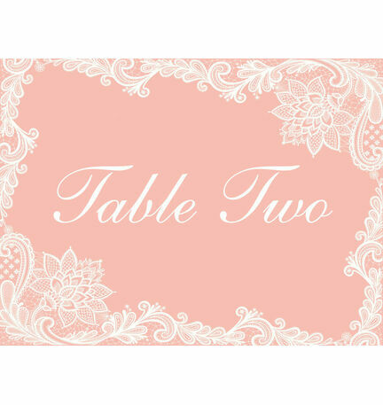 Romantic Lace Table Name
