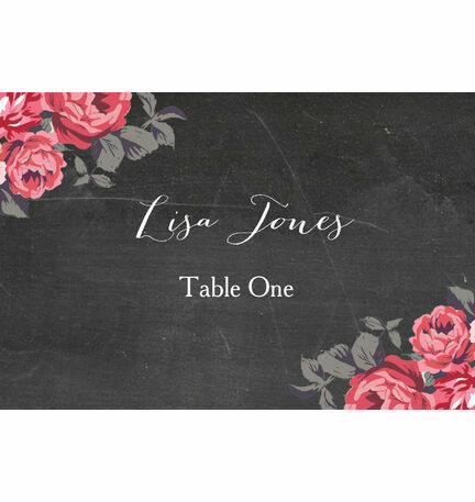 Rustic Floral Escort Cards - Set of 8