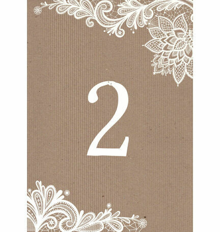 Rustic Lace Table Number