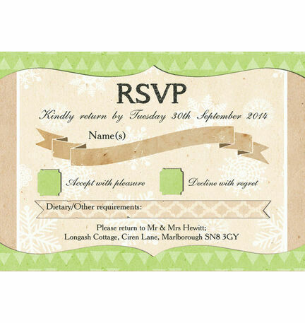Rustic Winter RSVP