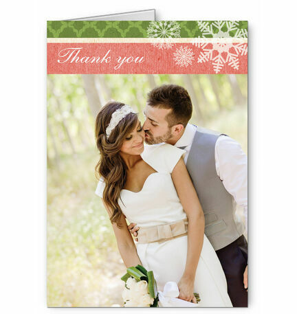 Rustic Winter Thank You Card