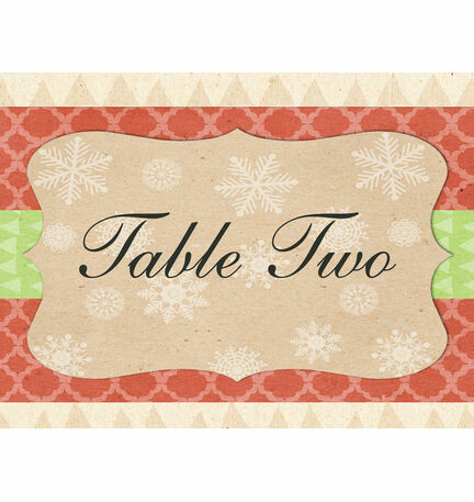 Rustic Winter Table Name