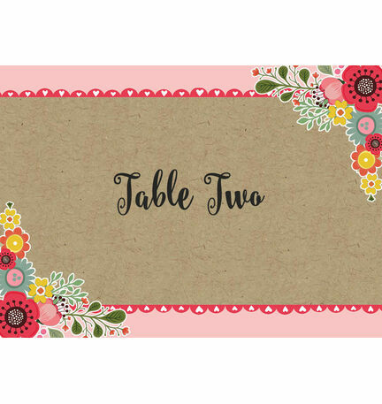 Rustic Woodland Table Name