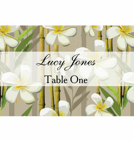 Tropical Beach Escort Cards