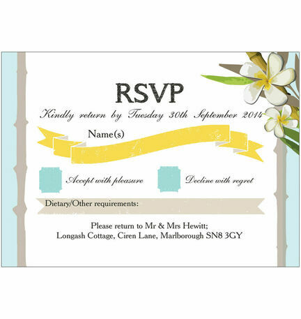 Tropical Beach RSVP