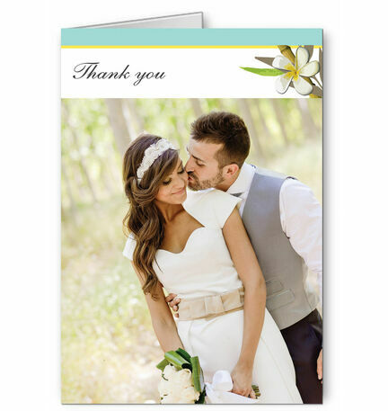 Tropical Beach Thank You Card