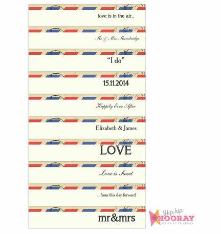 Vintage Airmail DIY Straw Flags