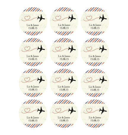 Vintage Airmail Stickers - Sheet of 12