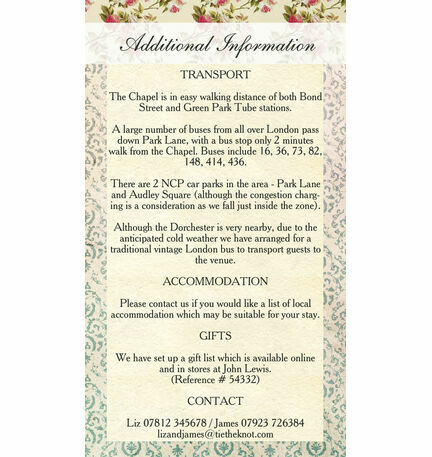 Vintage Scrapbook Guest Information Card