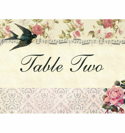 Vintage Scrapbook Table Name