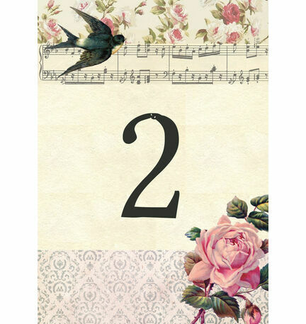 Vintage Scrapbook Table Number