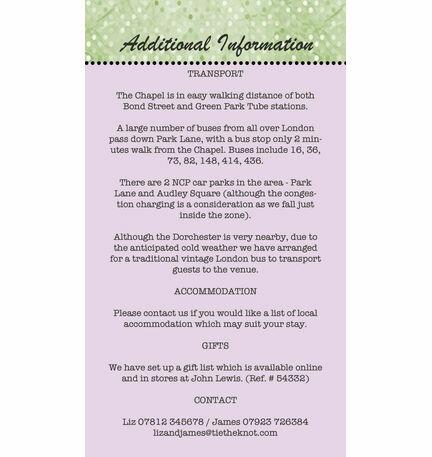 Vintage Vegas Guest Information Card