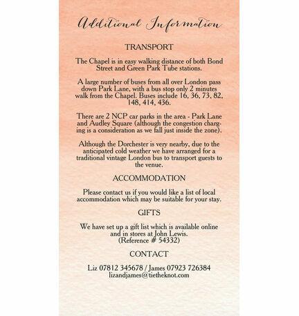 Wild Garden Guest Information Card