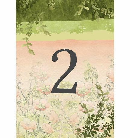 Wild Garden Table Number