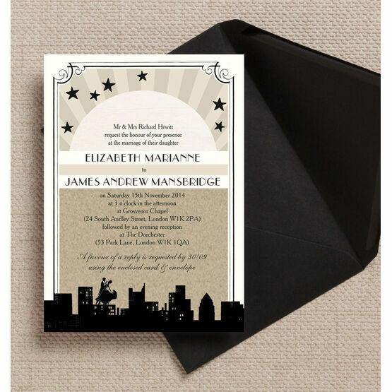 Vintage Hollywood Wedding Invitation